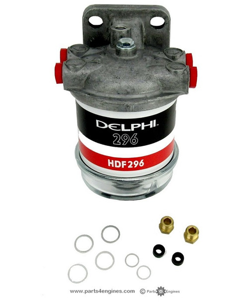 Perkins 4.248 fuel filter assembly with glass bowl from parts4engines.com