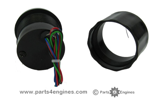 Rear Perkins 4.108 Water Temperature gauge rear view,, from Parts4Engines.com