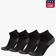 NanoGLIDE® Quarter Socks, 4 Pair