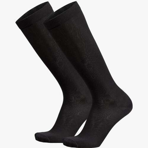 Over the Calf Compression Socks, 2 Pair (Black)