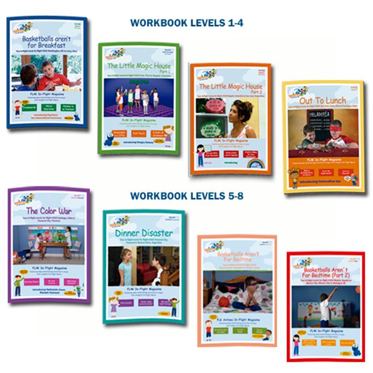 Workbooks, Levels 1-8