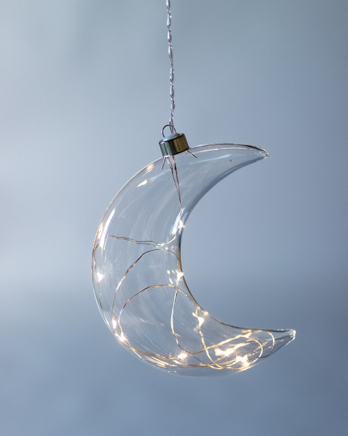 Crescent Moon Hanging Glass Light *