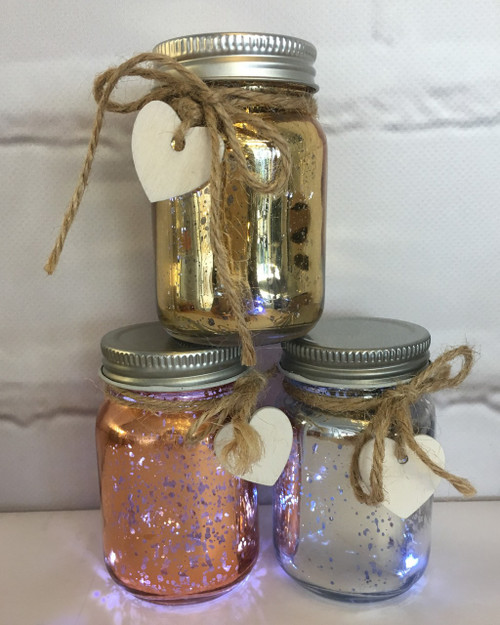 Mini Metallic Sparkle Jars - set of 3 *