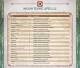 Rune Spell Reference Tables - free download for The Red Book of Magic