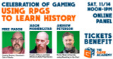 Mike Mason discussing Using RPGs to Learn History at The Game Academy's Online Convention, this Saturday (Nov 14)