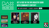 'Get a foot in the RPG industry door with community content!' A PAX Online panel for aspiring RPG writers - Wed 16 Sept
