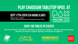 Come play Chaosium TTRPGs at PAX Online - Sept 17th-20th