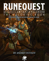 More coloring fun at home: Chaosium releases RuneQuest The Coloring Book as a free download
