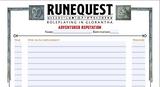 RuneQuest Adventurer Reputation Sheet - free download