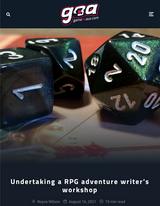 Miskatonic Monday #36: undertaking the 'Write your First Adventure' RPG workshop