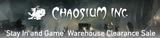 Chaosium's 'Stay In and Game' Warehouse Clearance Sale