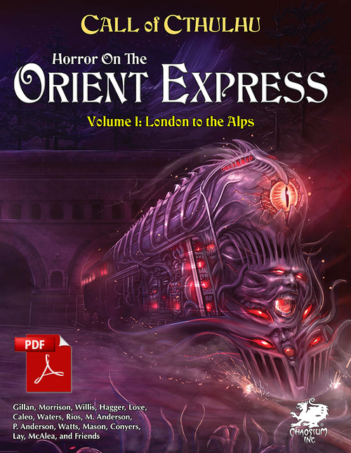 Horror on the Orient Express - Volume 1 - Front Cover