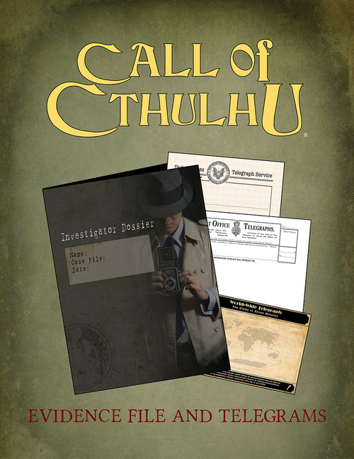 Call of Cthulhu Evidence File & Telegrams - PDF