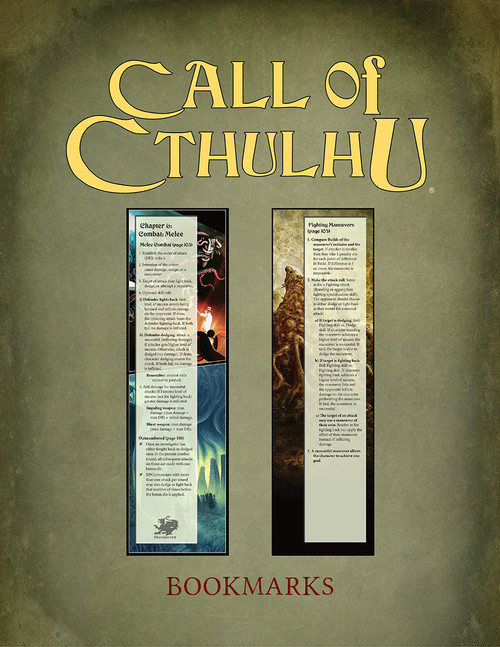 Call of Cthulhu 7th Edition Book Marks PDF