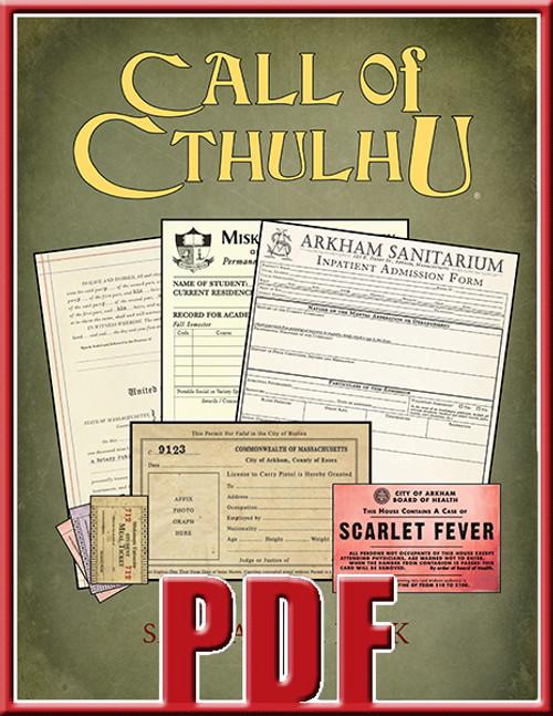Sanitarium Miskatonic University and Arkham forms bundle.