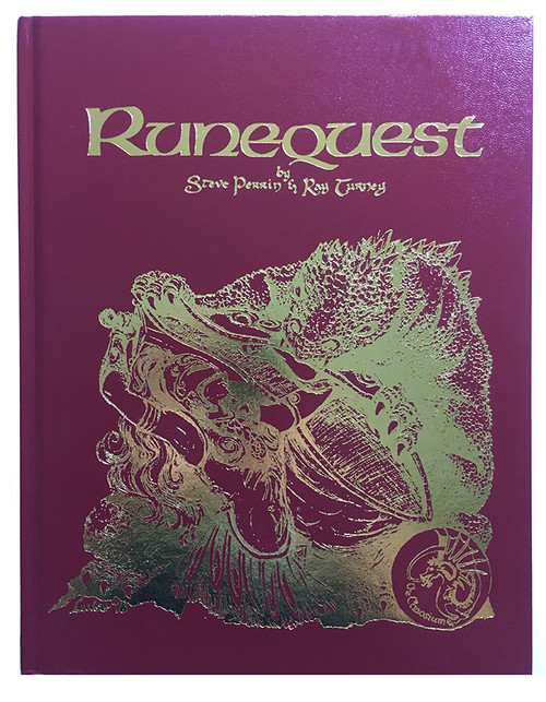 RuneQuest Hardcover Leatherette bundle - Front Cover