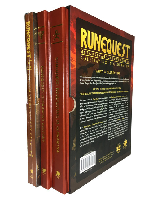 RuneQuest Roleplaying in Glorantha - Leatherette Slipcase Set