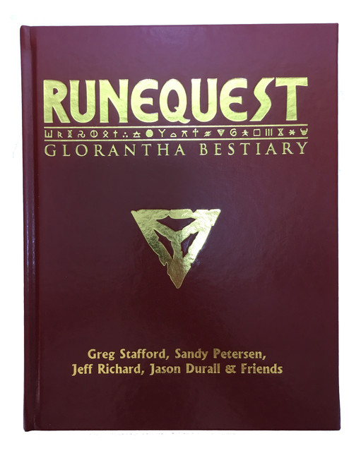 RuneQuest : Glorantha Bestiary - Leatherette Cover