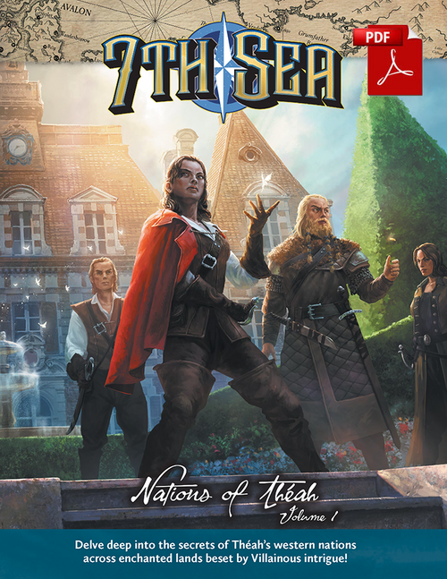 7th Sea - Nations of  Theah - Vol 1 - Front Cover