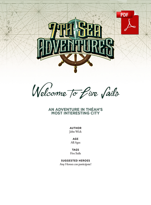 Welcome to the Five Sails - Front Cover