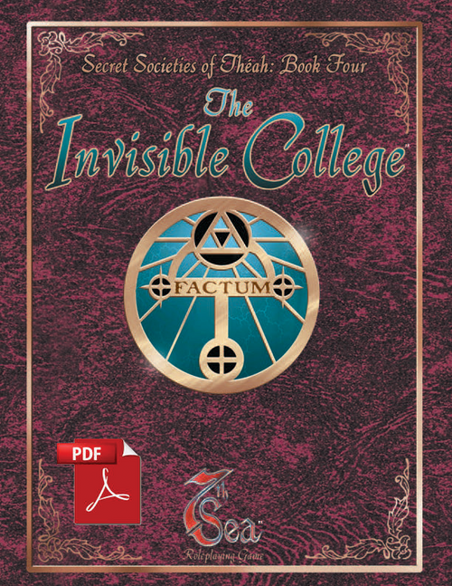 Secret Societies of Theah: Book Four - The Invisible College - Front Cover