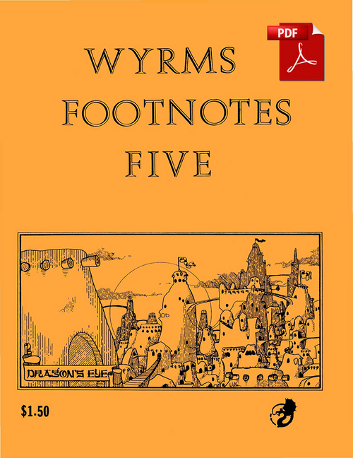 Wyrms Footnotes #5 - Front Cover