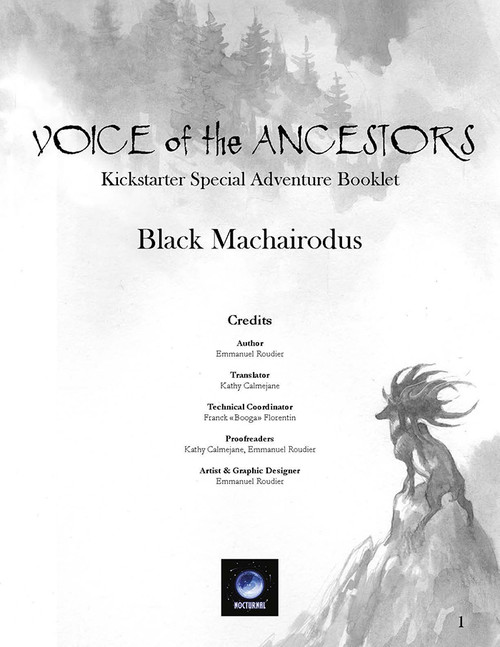 Black Machairodus - Front Cover