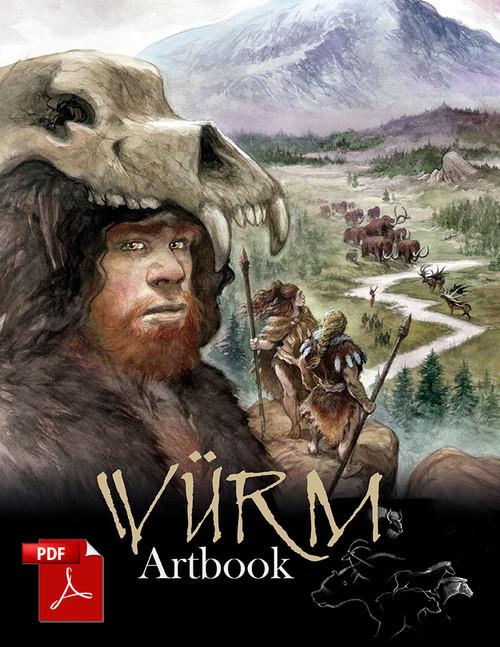 Würm Art Book - Front Cover