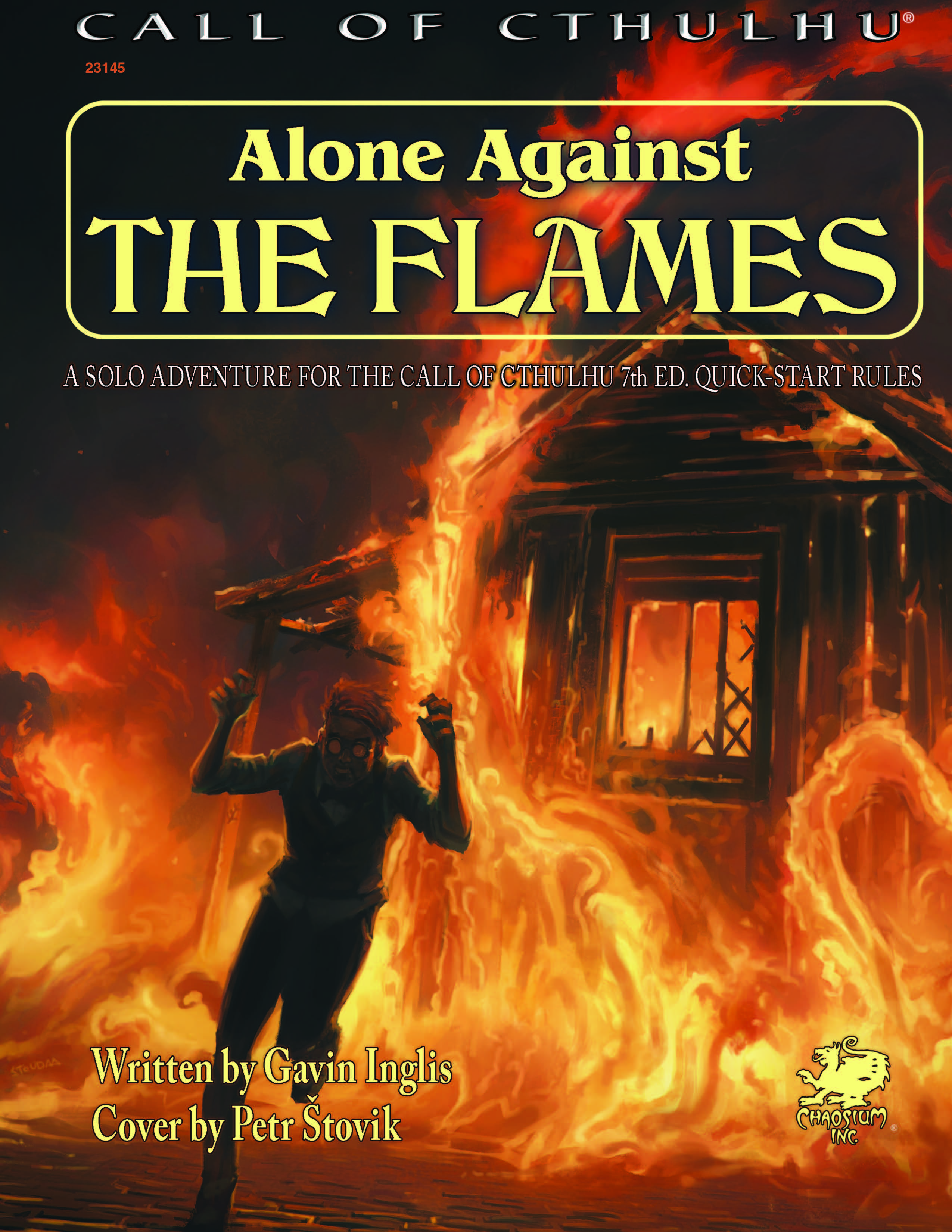Alone Against the Flames - Front Cover