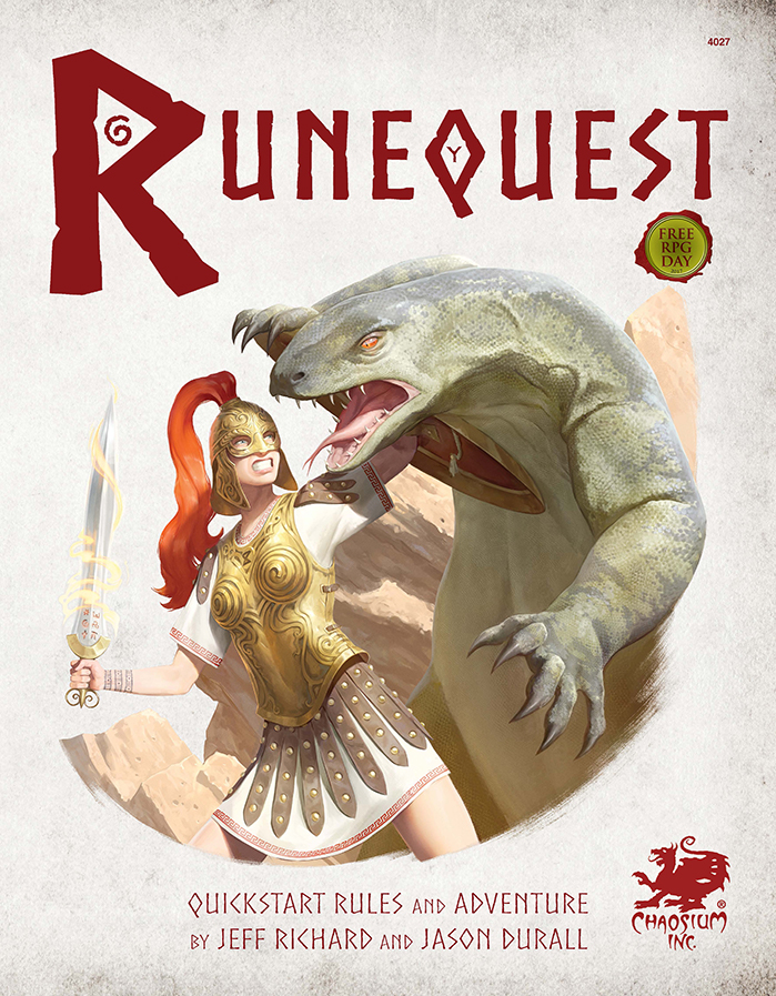 RuneQuest Roleplaying in Glorantha Quickstart - Front Cover