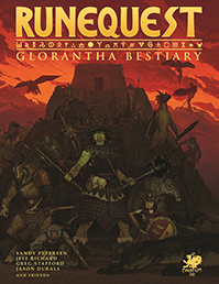 RuneQuest: Glorantha Bestiary Front Cover