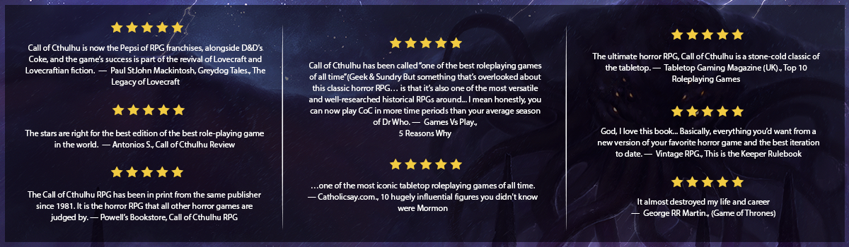 Call of Cthulhu - Keeper Reviews