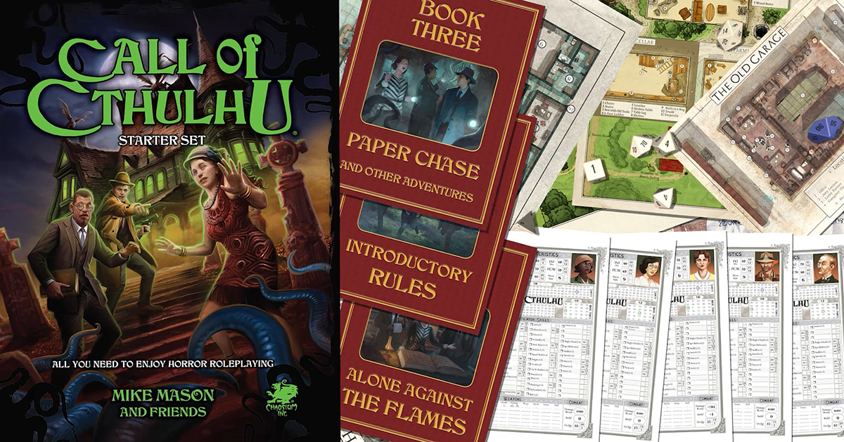 What's in the Call of Cthulhu Starter Set