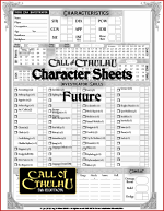 Cthulhu Future Character Sheet - Color