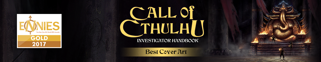 2017 ENnie winner - Investigator Guide for Best Cover Art