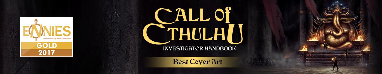 2017 ENnie winner - Investigator Guide for Best Cover Art