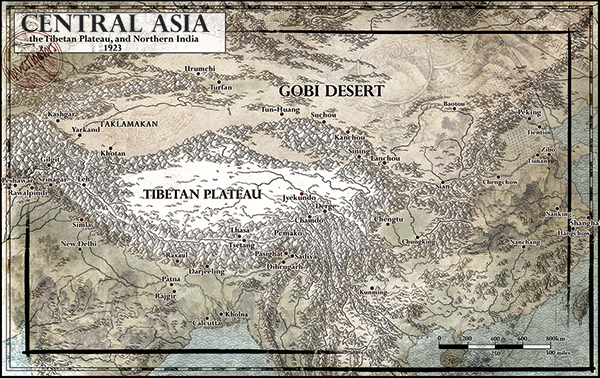 Investigator Map of Tibet