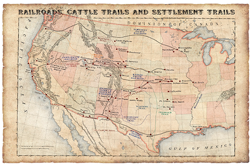 Map of the Old West