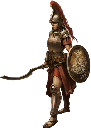 Female Noble In Armor