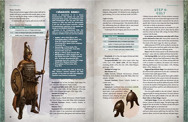 RuneQuest Glorantha - Page Spread