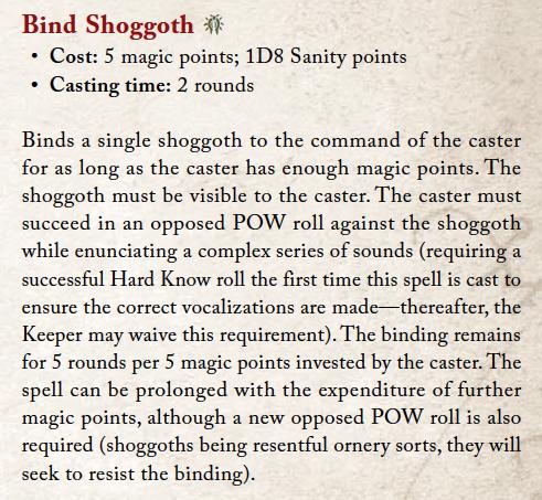 Spell - Bind Shoggoth