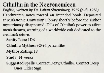 Tome - Cthulhu in the Necronomicon
