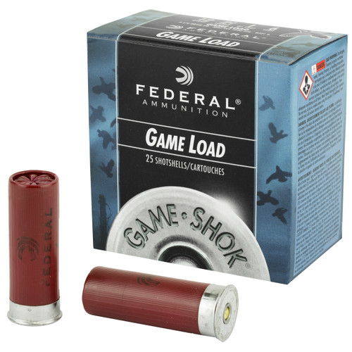 "Federal, Game Load, 12 Gauge, 2.75"", #6, 3.25 Dram, 1oz, Shotshell, 25 Round Box"