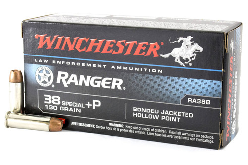 Winchester Ranger 38Spcl+P 130gr Bonded Jacketed Hollow Point