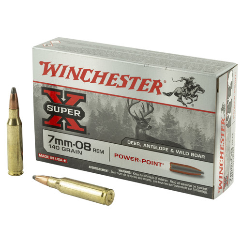 Winchester Ammunition, Super-X, 6MM REM, 100 Grain, Power Point, 20 Round Box