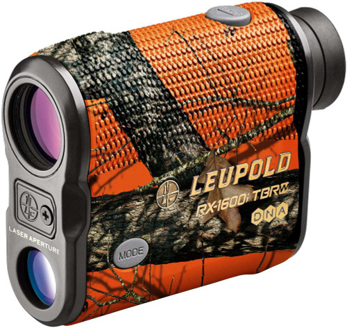 Leupold RX-1600i TBR/W with DNA Laser Rangefinder Mossy Oak Blaze Orange angled