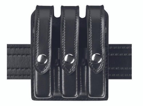 Safariland Slimline Triple Magazine Pouch Model 777-53-2 Snaps are Black