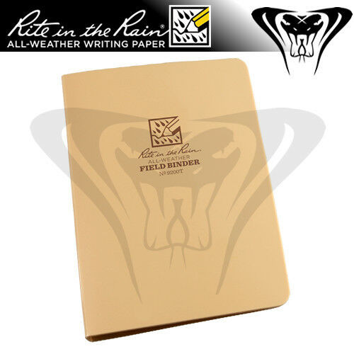 Rite in the Rain Tactical 6-ring binder, Tan Front