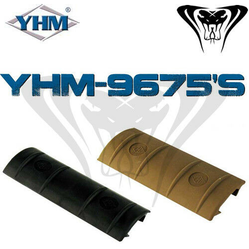 YHM 10 Slot Plastic Rail Cover YHM-9675 Black