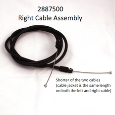 2887500 CABLE ASSY-RIGHT (5') BAGGED